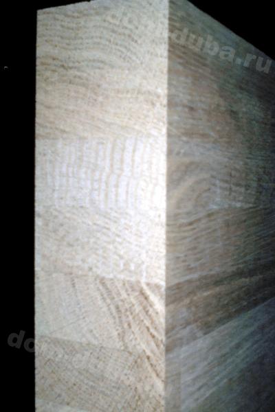 мебельный щит из дуба – сращенный, сорт САВ, толщина 50 мм – торец