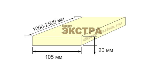 термо ясень доска 105 мм