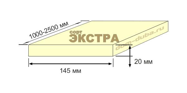 термо ясень доска 145 мм
