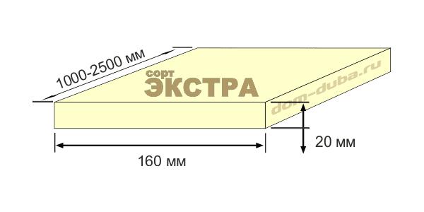 термо ясень доска 160 мм